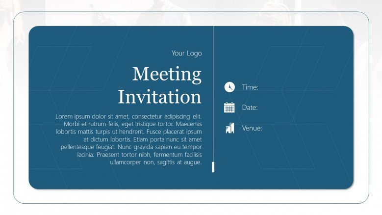Blue Business Meeting Invitation Template