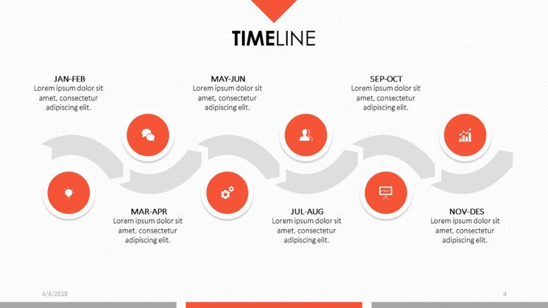 Timeline chart and circles