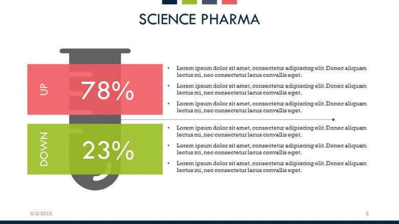 science pharma data driven comparison slide with key points text