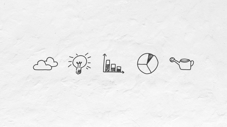 Doodle data icons for presentations