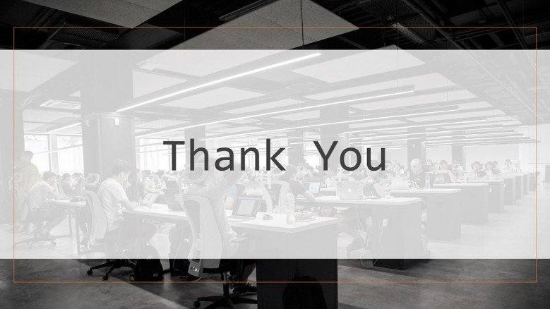 thank you project management slide corporate style