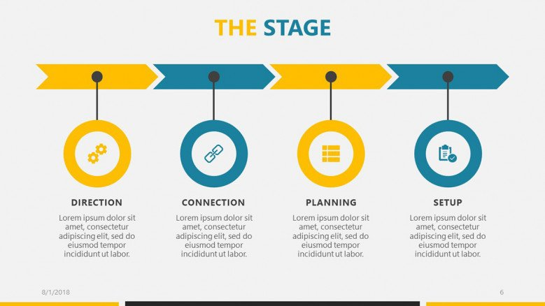 business roadmap time stage in process chart