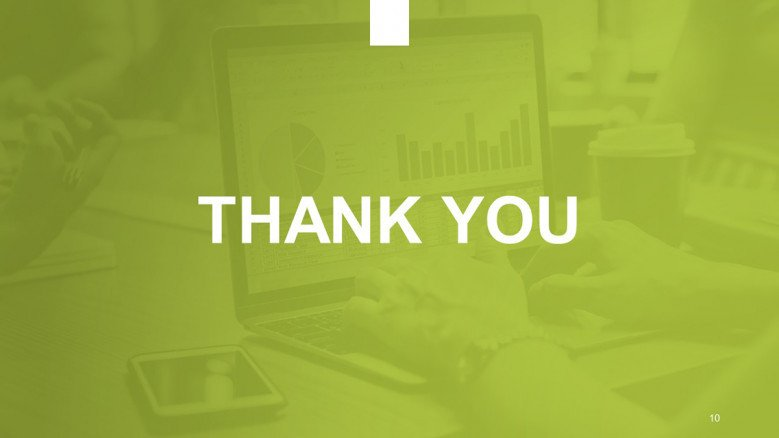 Green thank You slide for a macroeconomic analysis