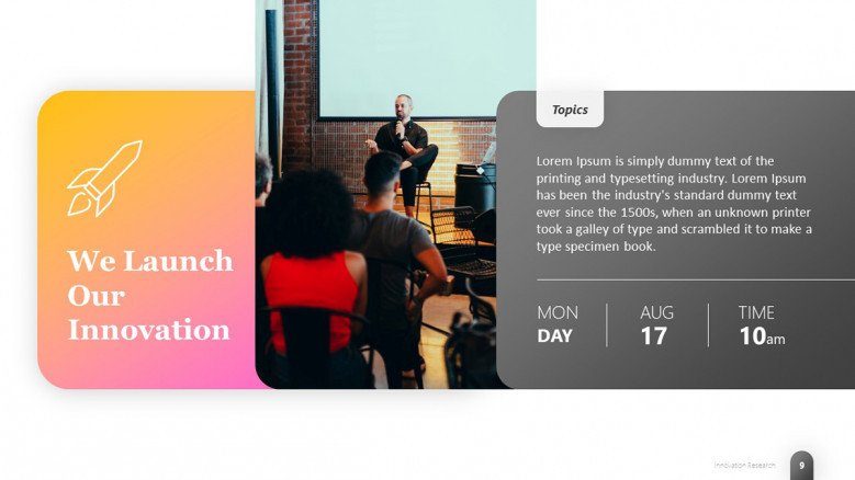Innovation Launch PowerPoint Slide