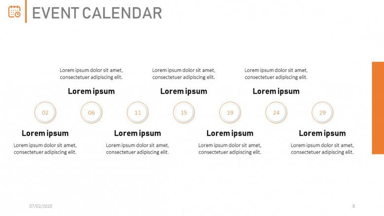 Important dates on the company calendar