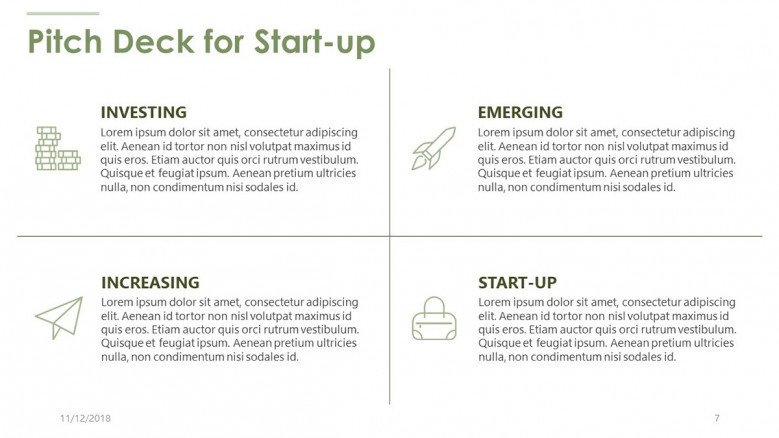 pitch deck for start up in generic text