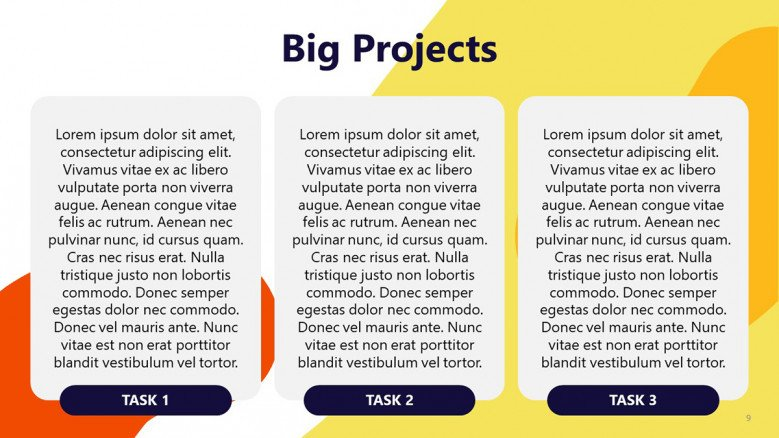 Big Projects Slide from Impact Effort Matrix PowerPoint Template