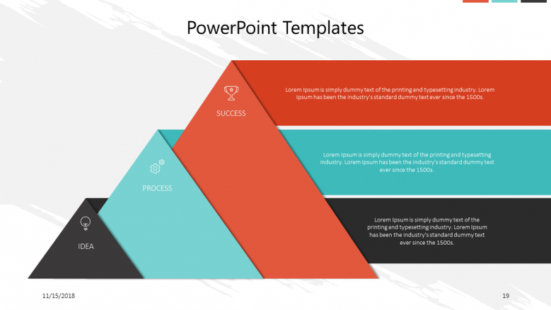 corporate in pyramid chart with comment box