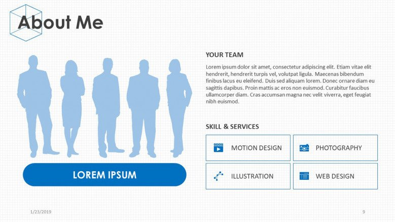 team management slide for about me presentation