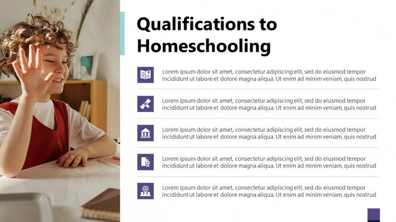 Qualifications to Homeschooling Slide