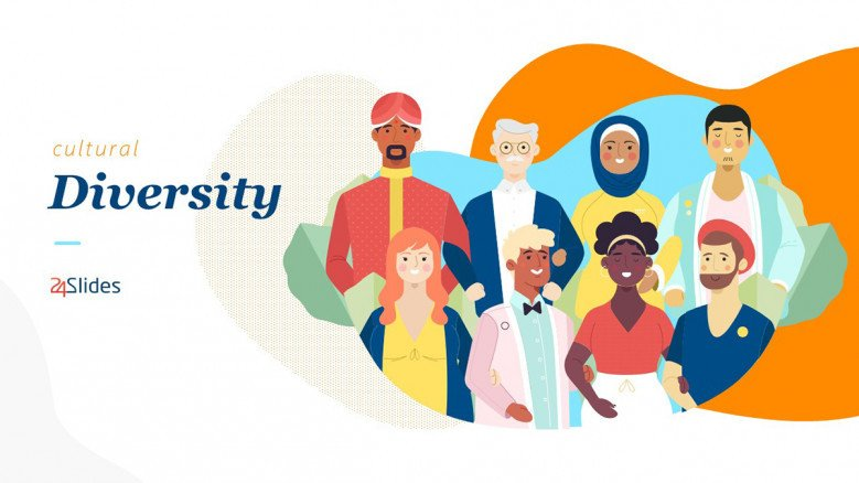 Cultural Diversity Presentation Template with illustrations