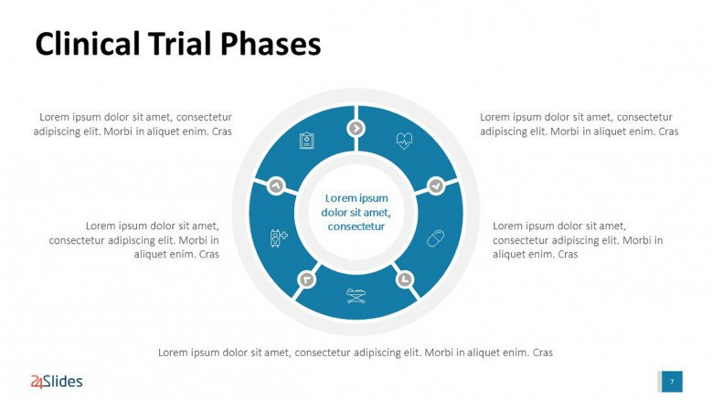 Clinical Trial Phases' Circle Diagram