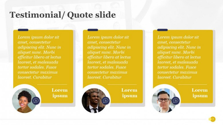 Customer Quotes for PowerPoint Presentation