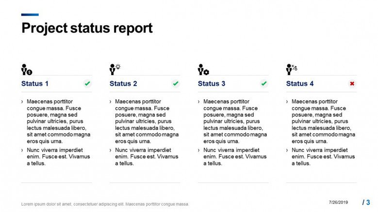 Weekly Project Status Report Slide
