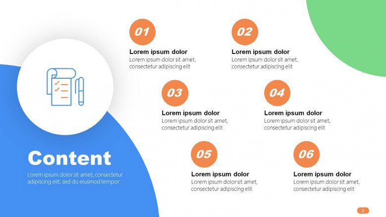 Content Slide in playful style