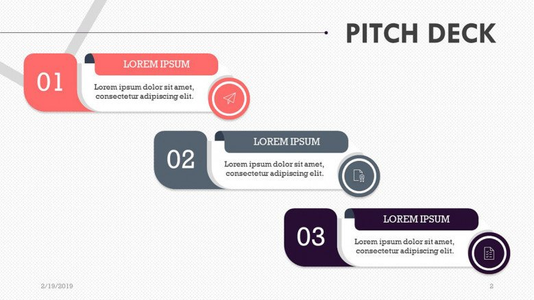 pitch deck slide in three key factors