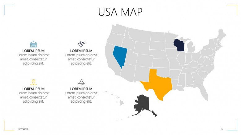 USA highlighted areas with key points in text box