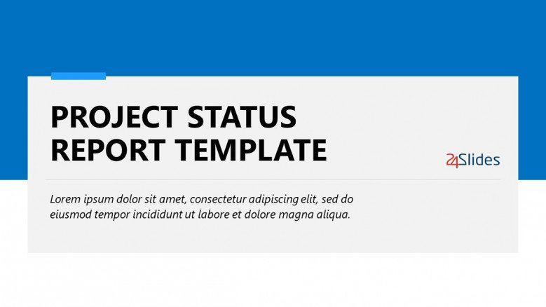 Blue Project Status Report Template