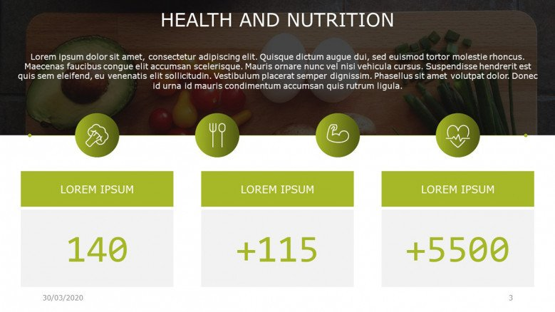 Health and Nutrition Facts Slide