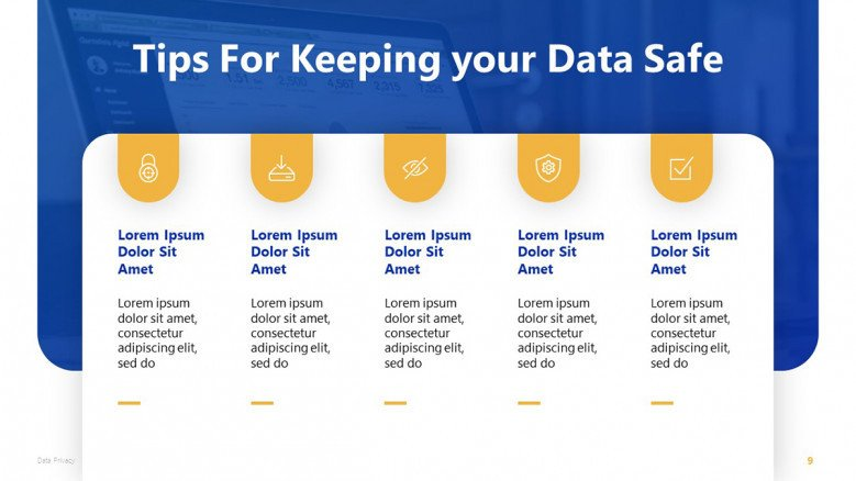Data Privacy Tips PowerPoint Slide