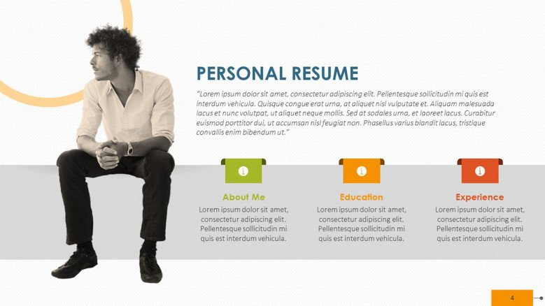 creative key factor personal resume with picture