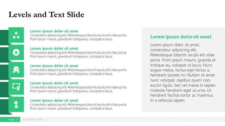 Five-level Slide for a Boston Consulting Group Presentation