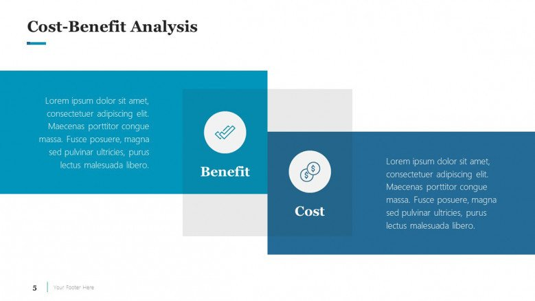 Cost-Benefit Analysis Slide for a Business Case Presentation