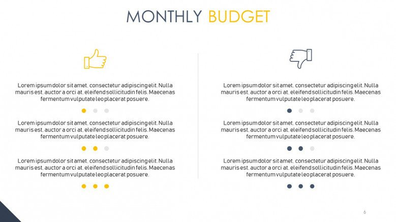 recommendations for monthly budget
