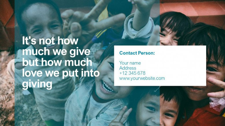 Give Back Quote Slide
