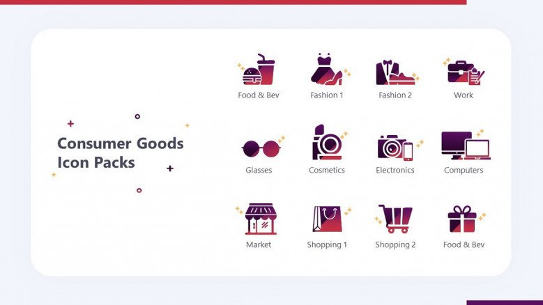 consumer goods icon in playful style