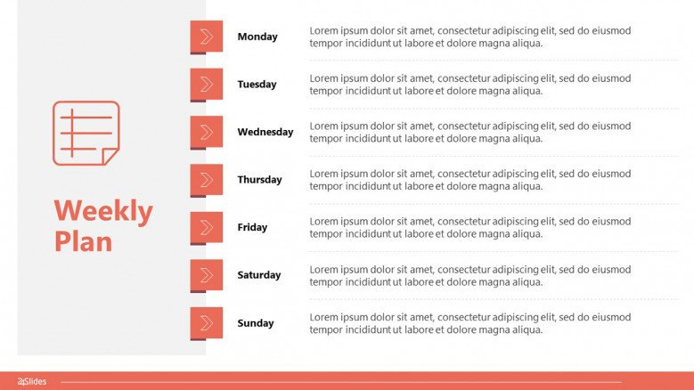 Vertical 7-day weekly plan