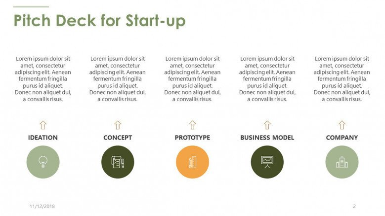 pitch deck for start up in text