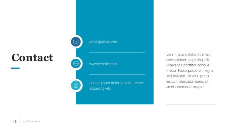 Corporate Contact Slide