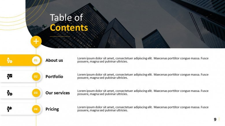 Vertical Table of Contents
