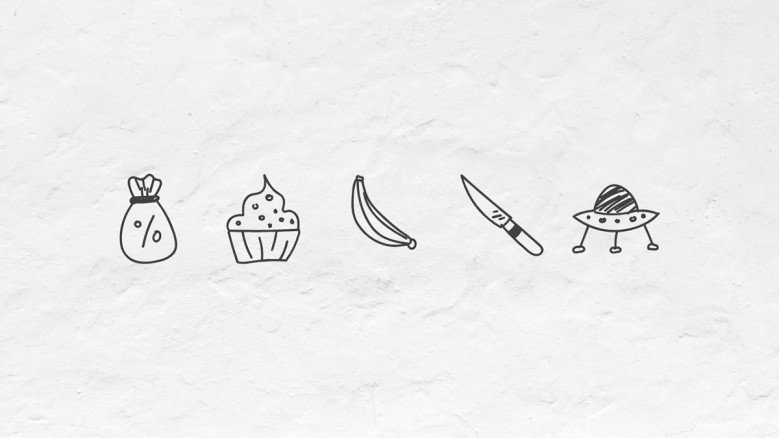 Doodle icons of Everyday objects
