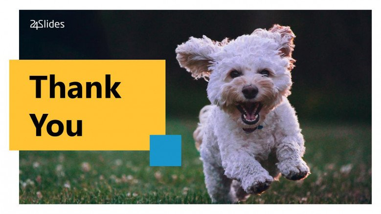 Thank You PowerPoint Slide with a puppy as background image