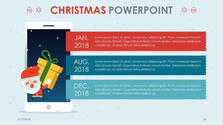 mobile app analysis slide in christmas theme presentation