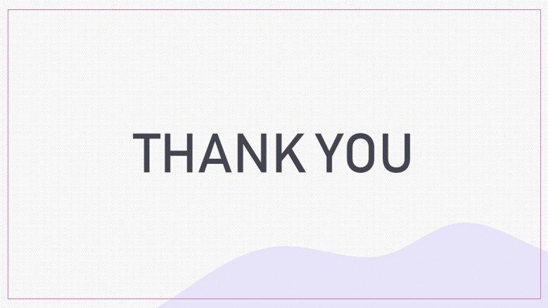 Simple Thank You Slide in pastel colors
