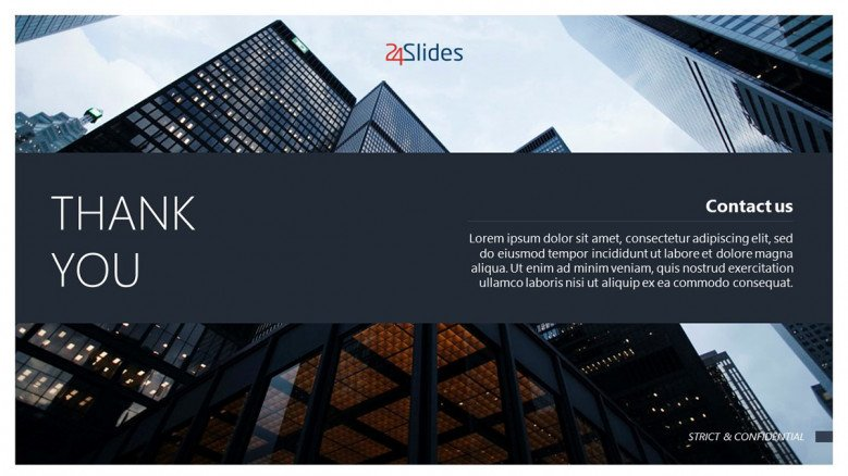 Thank You Slide for corporate presentations