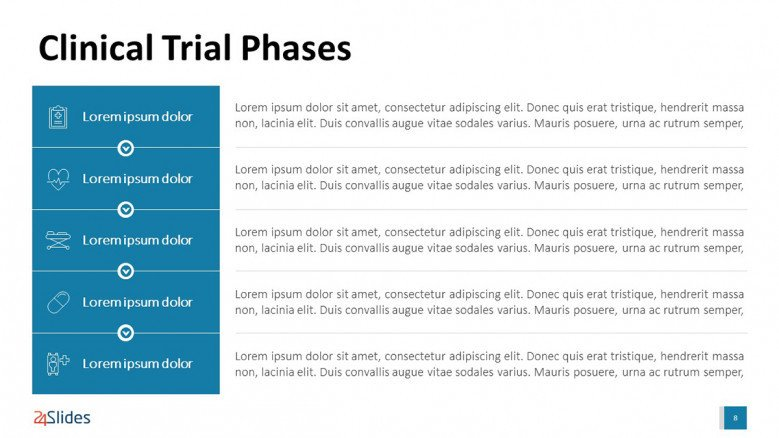 Clinical Trial Phases PowerPoint Template