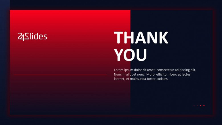 Dark-themed Thank You slide in PowerPoint