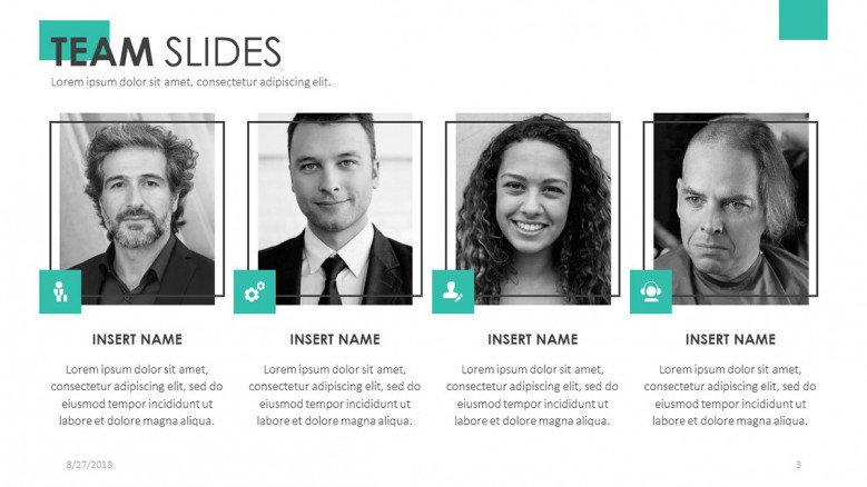 team member profile with picture