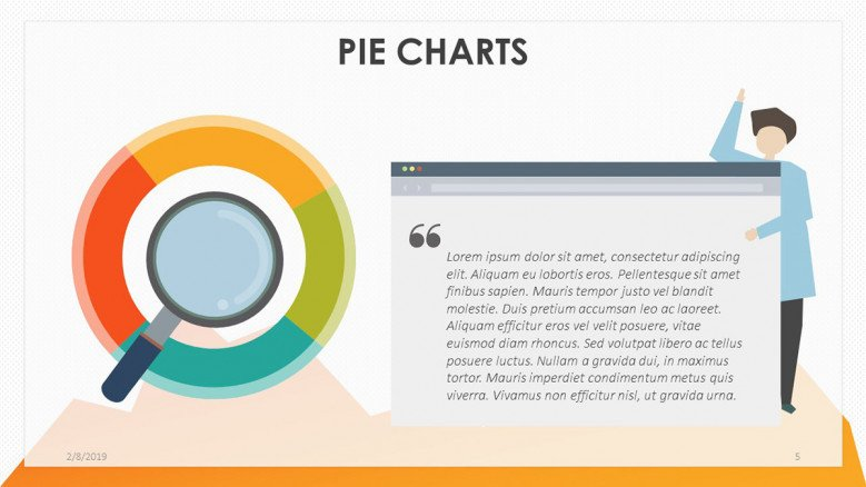 playful pie chart with generic text