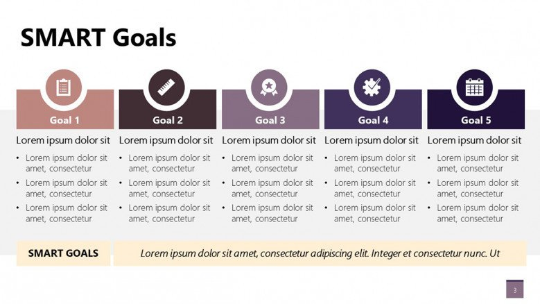 Corporate SMART Goals PowerPoint template for planning