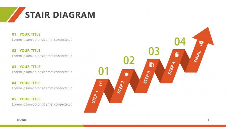 stair diagram free powerpoint template