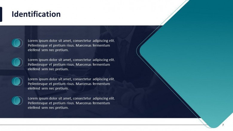 project management overview slide in four bullet points