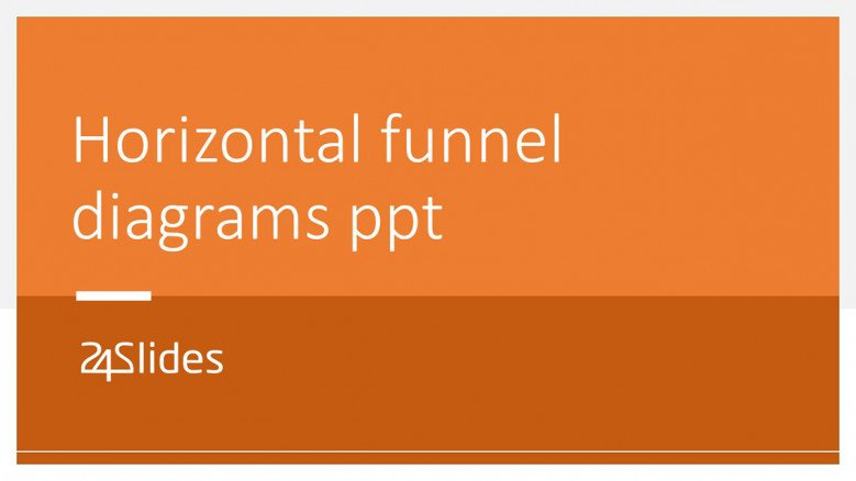 Horizontal Sales Funnel Charts in PowerPoint