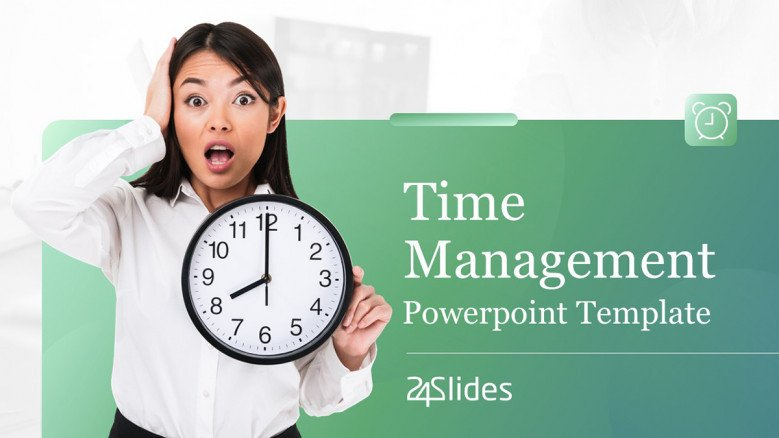 Top Time Management PowerPoint Presentation Template for executives