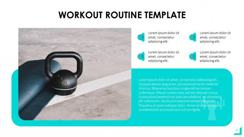 Workout Exercises PowerPoint Template