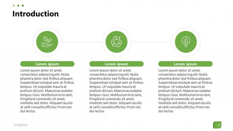environmental industry overview in three key factors summary text with icons